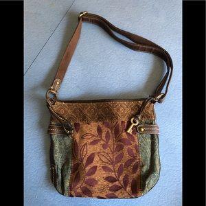 Fossil crossbody tapestry bag purse